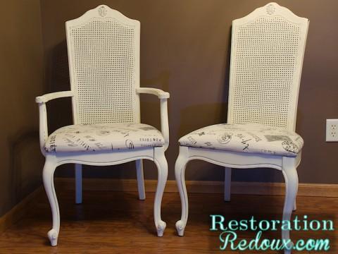 www.restorationredoux.com - ivory chairs