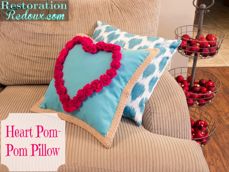 Super Easy Heart Pom Pom Pillows Daily Dose Of Style