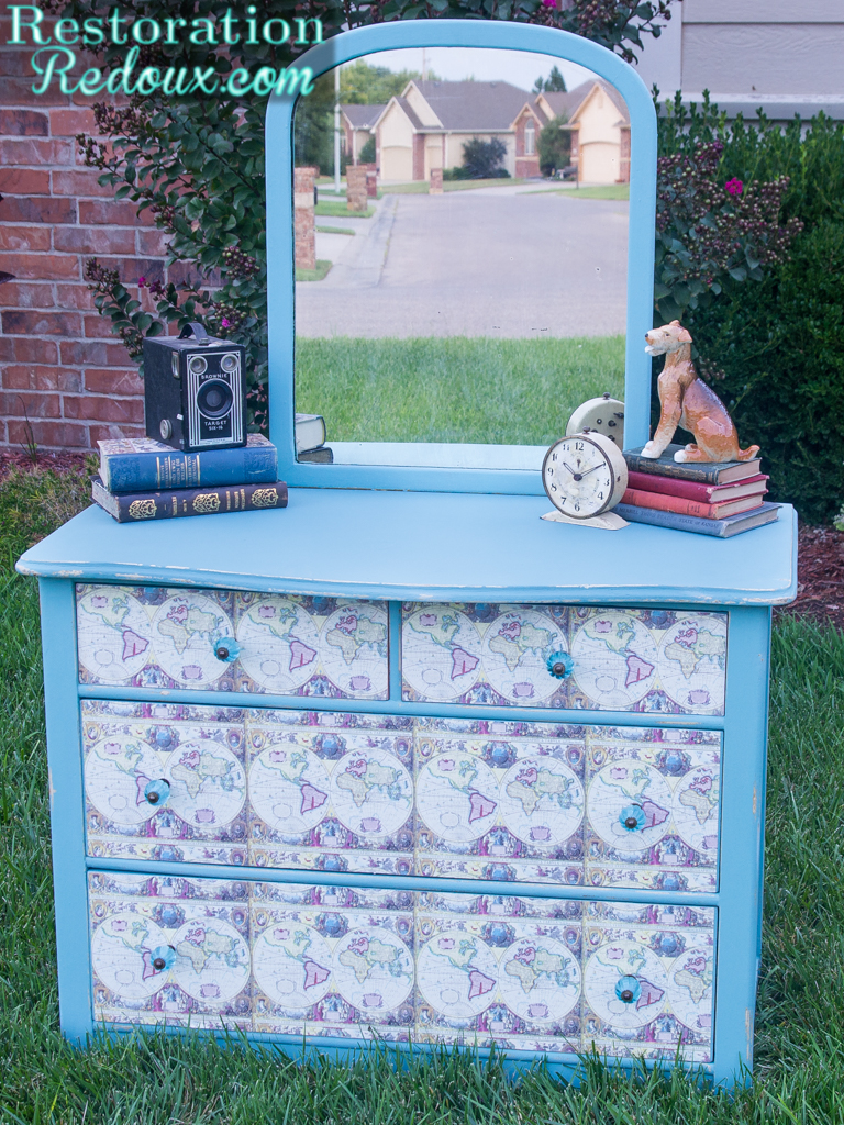 Decoupaged Vintage Child's Dresser