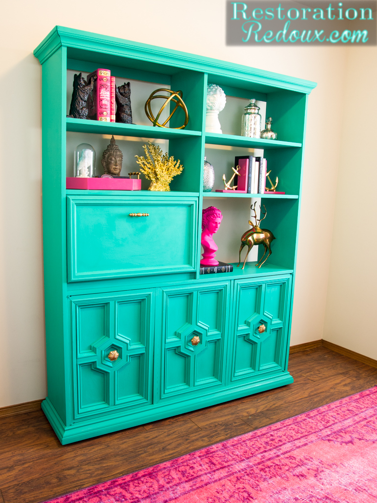 quality design 24801 22677 Turquoise-Retro-Bookshelf - Daily Dose of Style