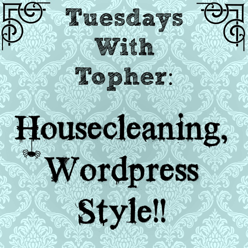 Tuesdays With Topher:  Housecleaning Your Blog