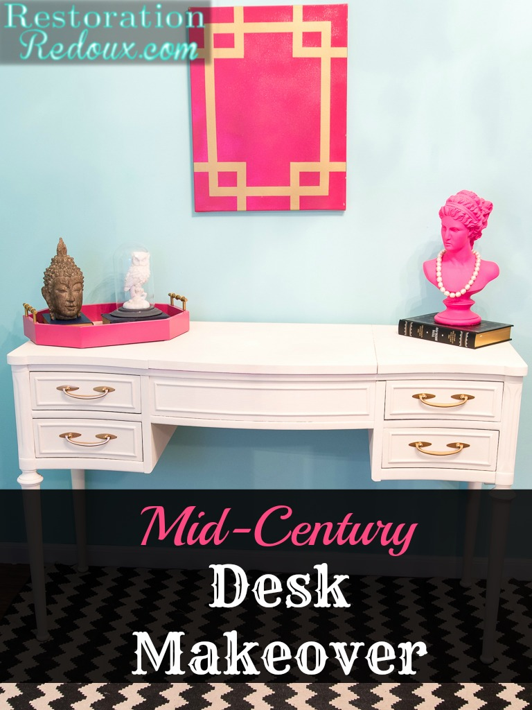 Mid-Century Desk Makeover