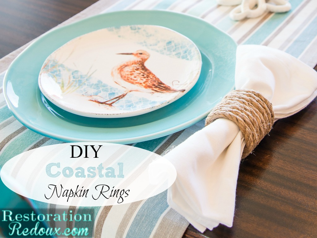 DIY Coastal Napkin Rings