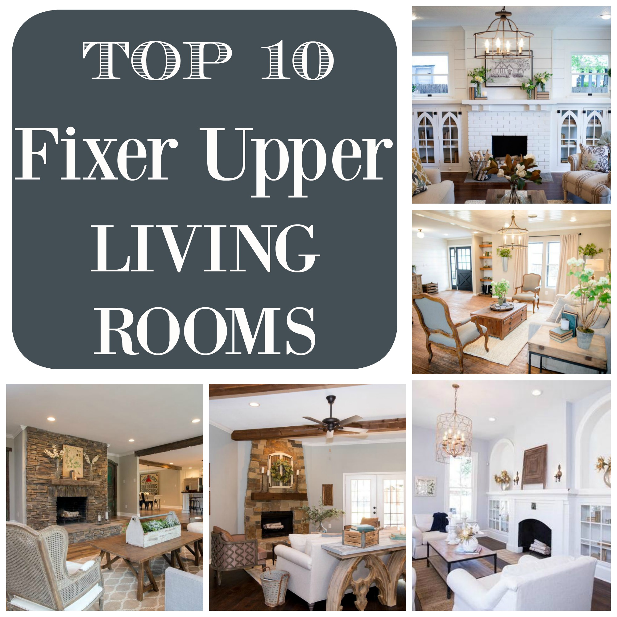 Design Ideas For Kitchen Bathroom Living Room: Top 10 Fixer Upper Living Rooms