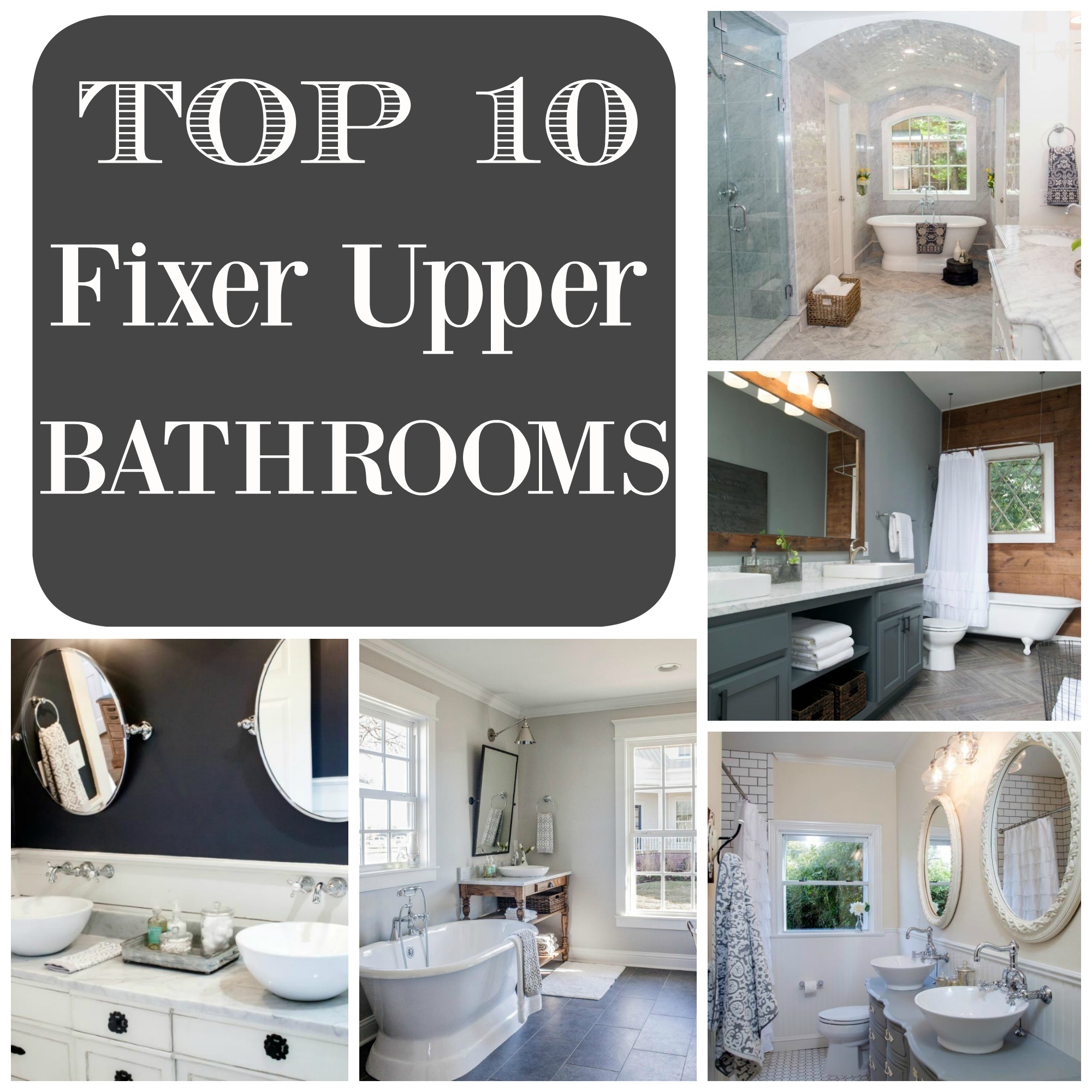 top 10 fixer upper bathrooms daily dose of style. Black Bedroom Furniture Sets. Home Design Ideas
