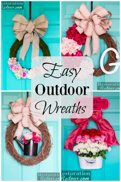 Easy Outdoor Wreaths
