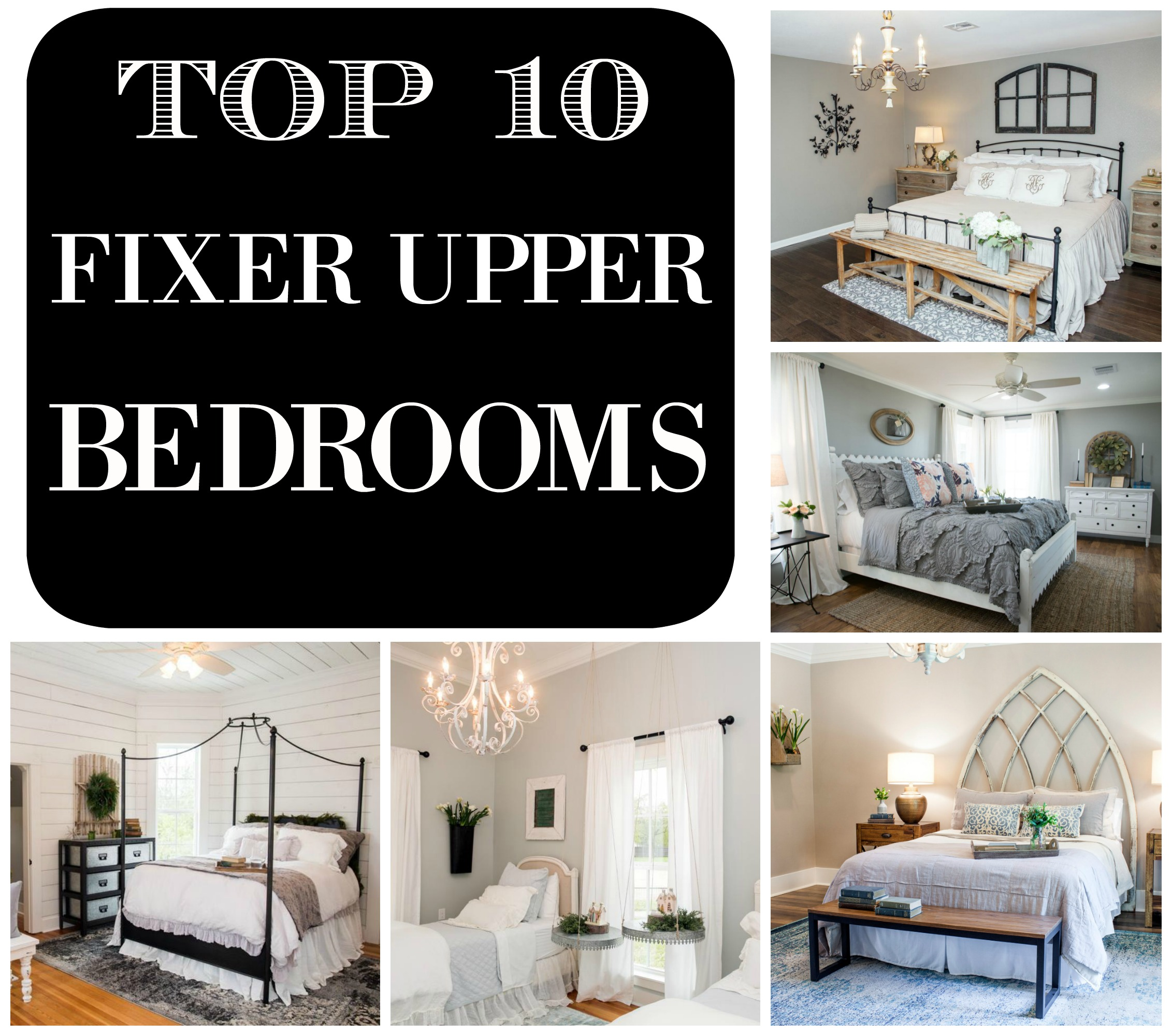 top 10 fixer upper bedrooms daily dose of style. Black Bedroom Furniture Sets. Home Design Ideas