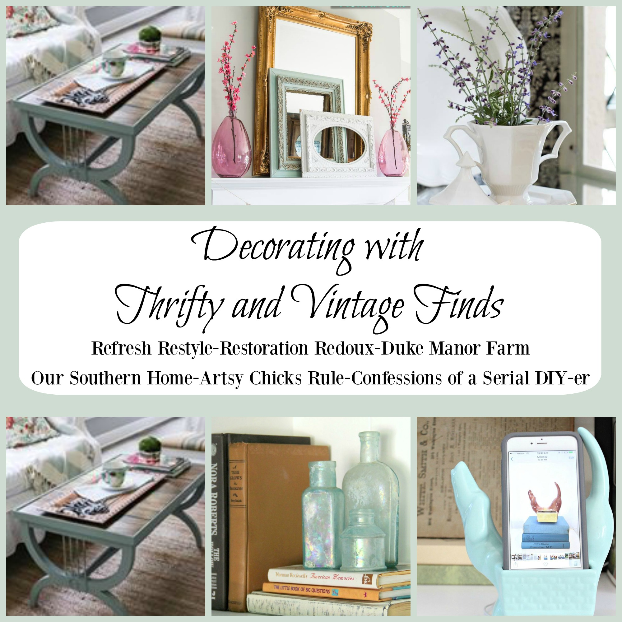 Decorating with Thrifty and Vintage Finds