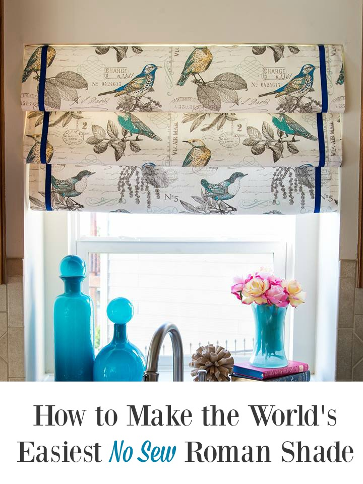 How to Make the World's Easiest No Sew Roman Shade