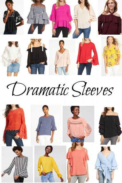 Tops with Dramatic Sleeves
