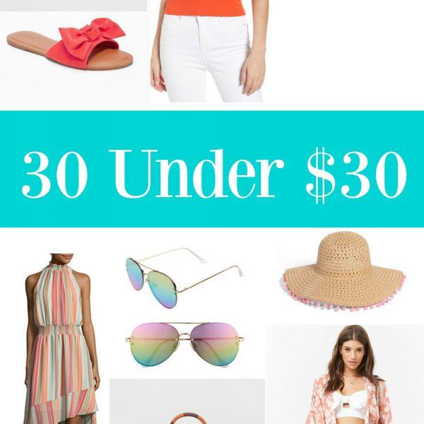 30 Under $30