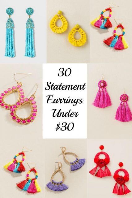 30 Statement Earrings Under $30