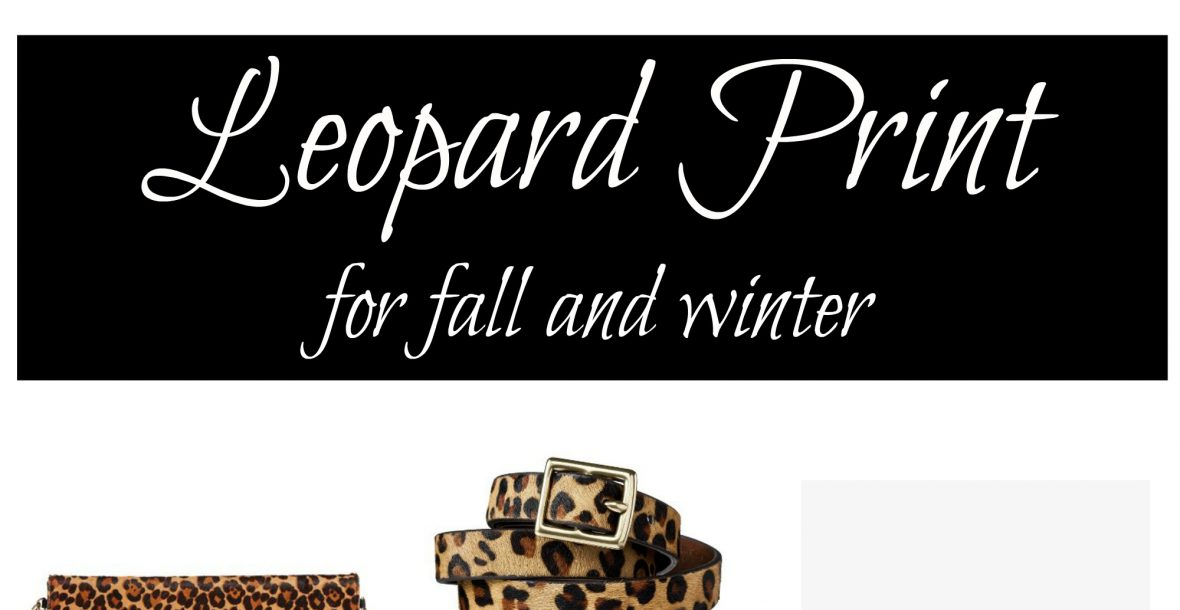 Leopard Print For Fall and Winter