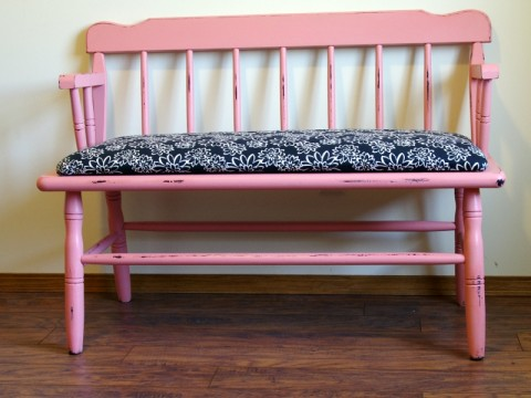 Bright Coral Bench