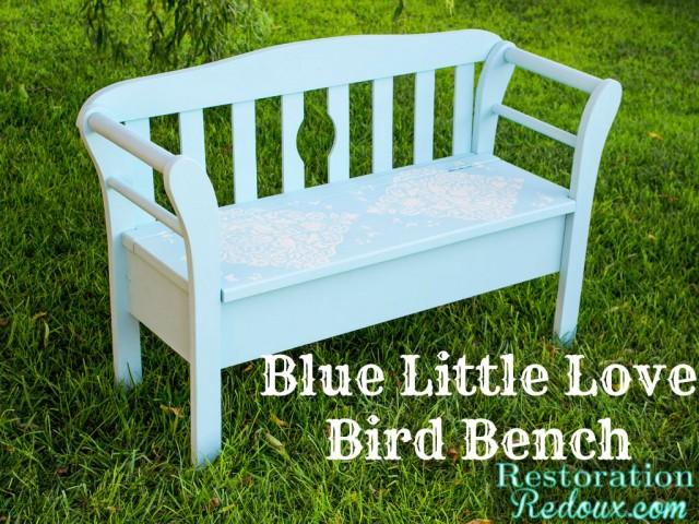 LoveBird-Blue-Bench