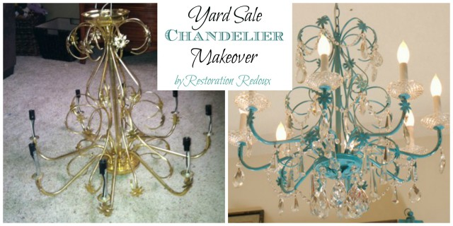 Yards ale Chandelier Makeover