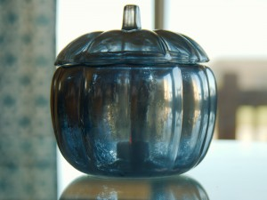 Faux Mercury Glass Pumpkin