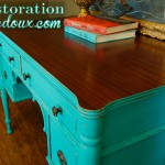 www.restorationredoux.com - Turquoise Desk