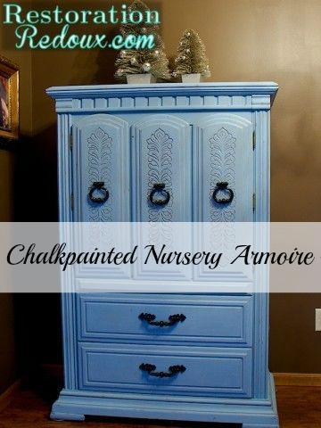 Chalkpainted Nursery Armoire