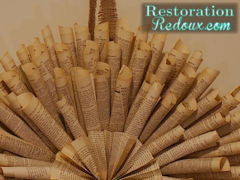 www.restorationredoux.com - Book Page Wreath