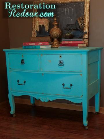 www.restorationredoux.com - Turquoise Dresser