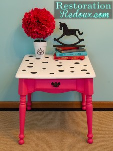 Seeing Spots (Pink Polka-Dot Table)