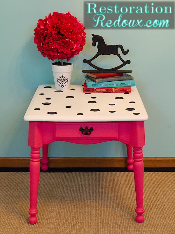 Seeing Spots (Pink Polka-Dot Table)