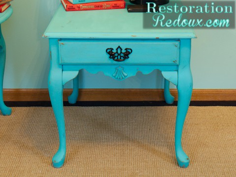 Turquoise Nightstand square