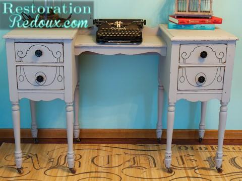 Vintage Grey Desk