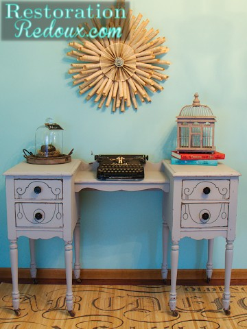 Grey Vintage Desk