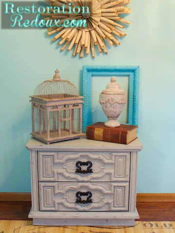 little grey nightstand after