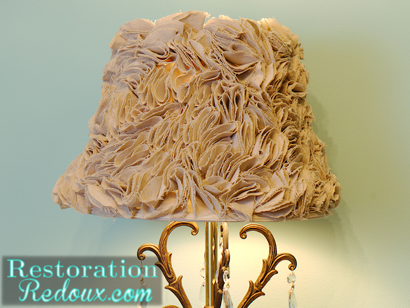 Ruffled lamp shade tutorial daily dose of style diy drop cloth ruffled lamp shade mozeypictures Gallery