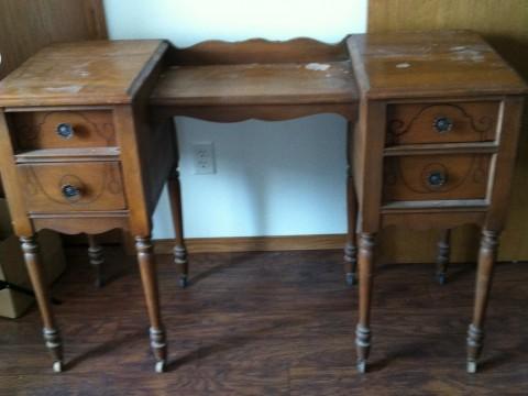 Vintage desk before pic
