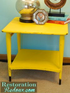Roughed Up and the Yellow End Table