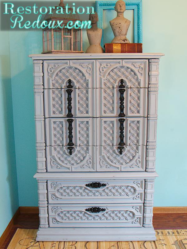 Vintage Grey Dresser
