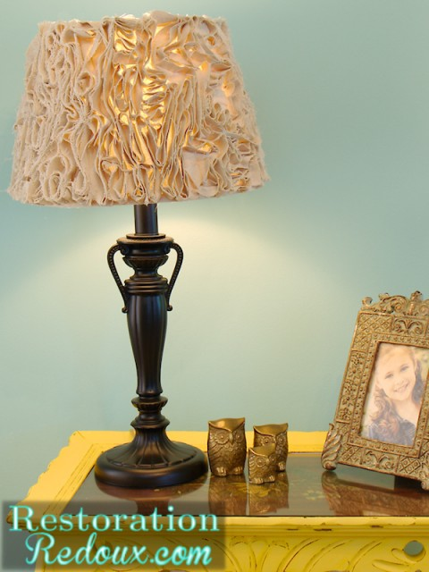Ruffled Lamp Shade After