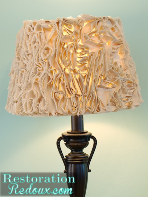 Ruffled Lamp Shade After closeup