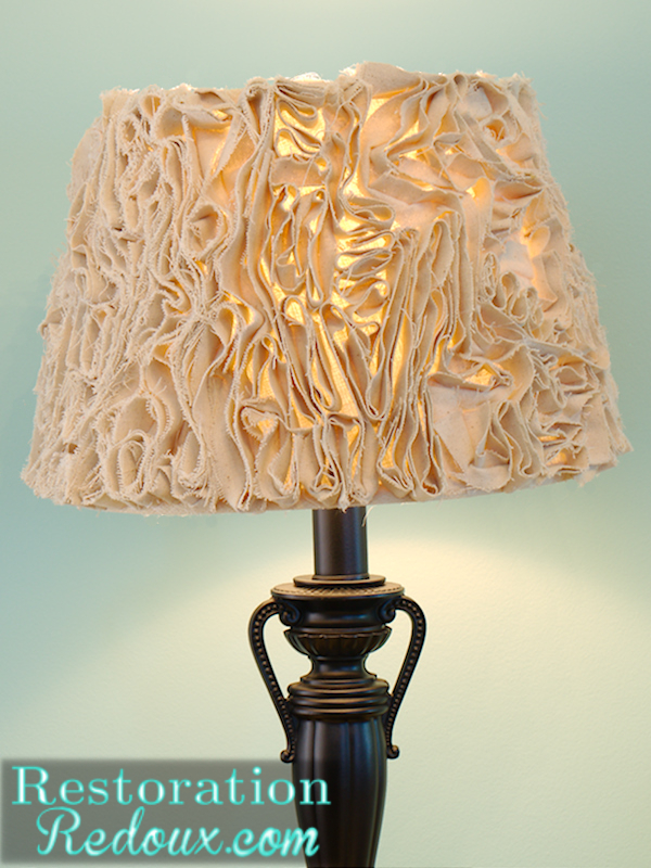 ruffled lamp shade part 2 restoration redoux. Black Bedroom Furniture Sets. Home Design Ideas