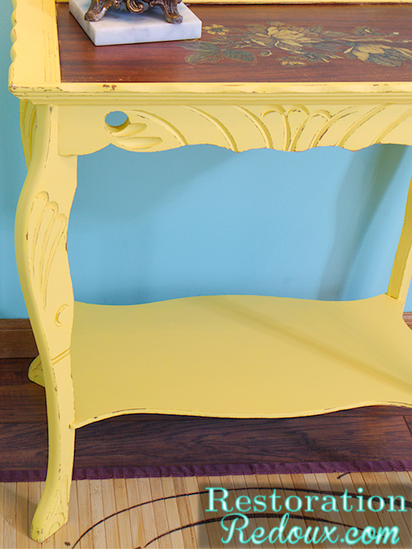 Antique Yellow Table After right side