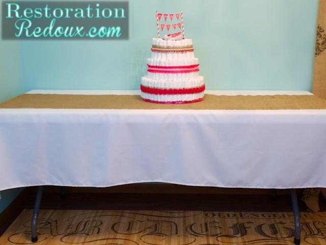 Diaper cake table