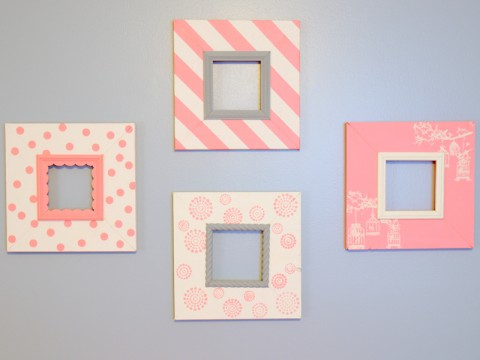Pretty in Pink (DIY Nursery Picture Frames)