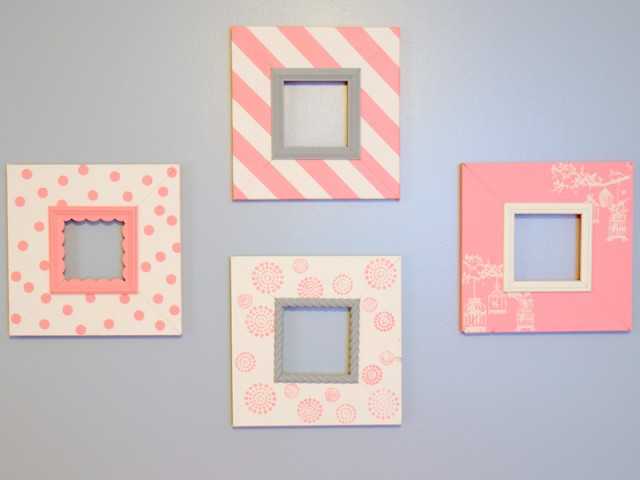 DIY Nursery Picture Frames