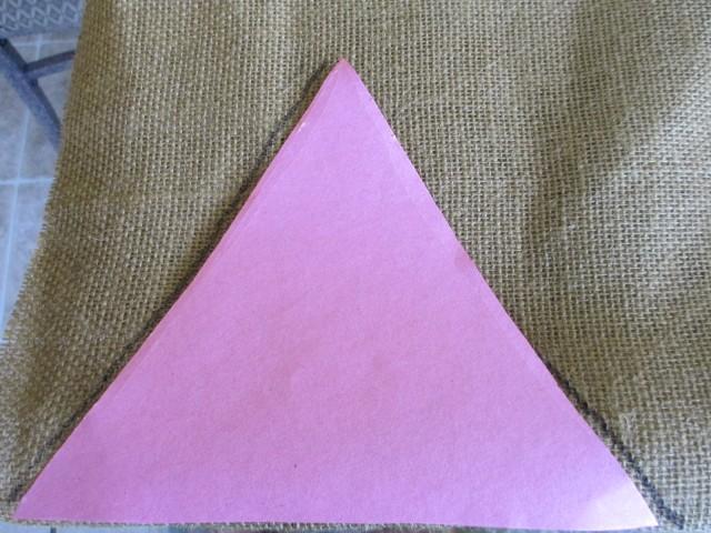 Tracing Burlap Triangle