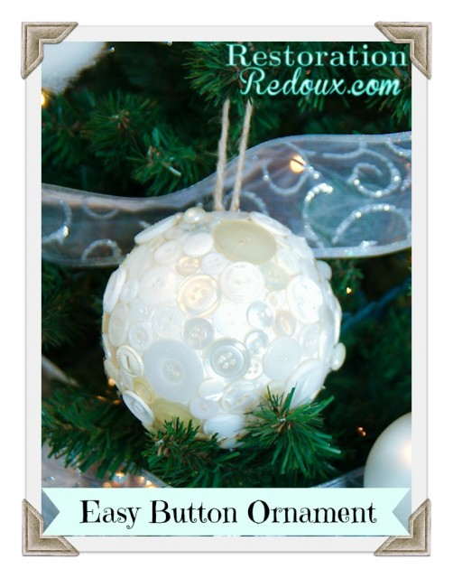 Easy Button Ornament