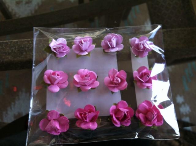 adhesive flowers