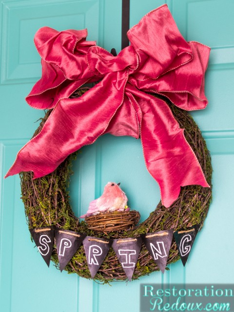 ChalkboardSpringWreath
