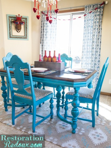 Turquoise Dining Table