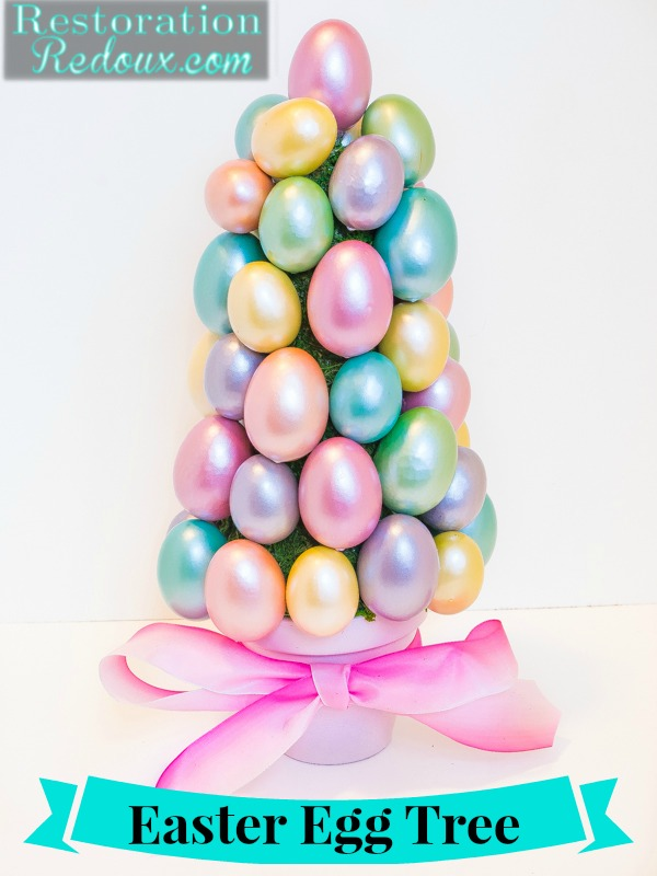 Diy easter egg topiaries How to make an easter egg tree