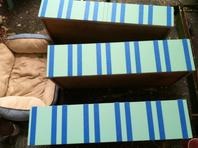 Taped off Drawers