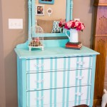 Turquoise-Striped-Dresser